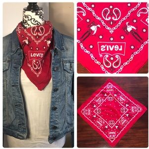Levi's:vintage 1970's cowboy bandana 🤠
